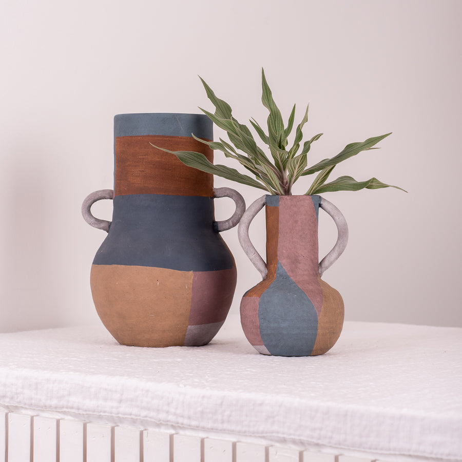 Hand painted Terracotta Vessel