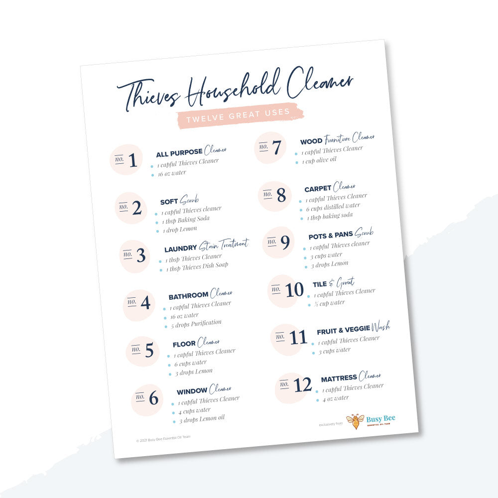 Thieves Household Cleaner Printable