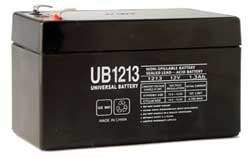 12V 1.3 AH  Sealed Lead Acid Battery Tab=.187  , UB1213
