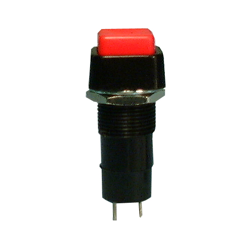 Square P/B, SPST 3A @125V, On-Off, BLK, 30-10064
