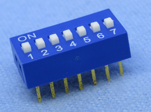 Dip Switch, SPST 7 section, 30-1007
