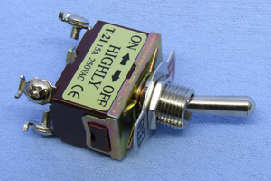 Toggle, DPST 15A @120V, On-Off, screw term, 30-1134