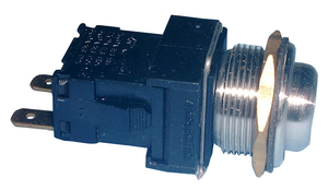 Vandal Resistant DPST PB Switch, 12A@250VAC, On-Off, 30-14350