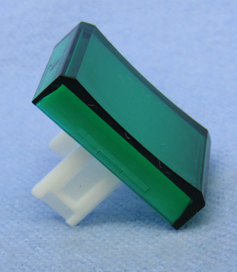 Rectangular Lens for Rec. PB Switch, Green, 30-14540