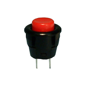 Push Button, SPST 3A @125V, (On)-Off, Red Butt., 30-2295