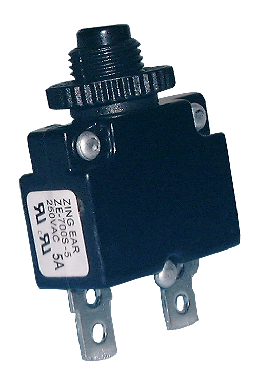 Miniature Push Button Circuit Breaker, 15A, 30-6015