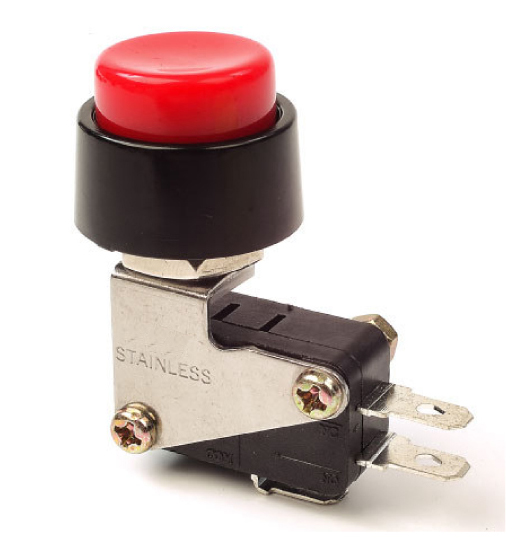 Red Push Button Switch On/Off Momentary, 30-787