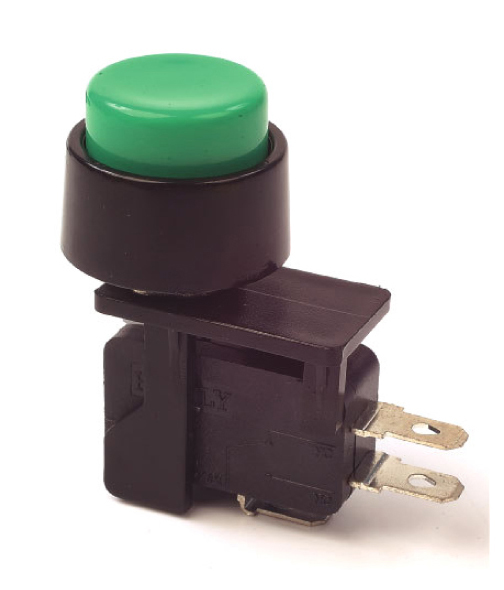 Green Push Button Sw On/Off Momentary, 30-789