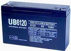 6V 12 AH Sealed Lead Acid Battery Tab=.187  , UB6120