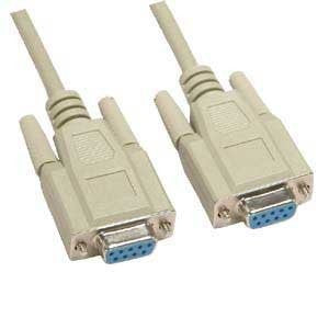 6Ft Null Modem DB9 F-F Cable   , S-9NM2A-6