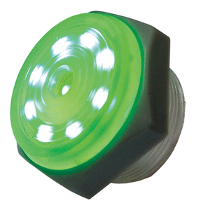 Green Lighted Piezo Sounder-Intermittent, 44-1206