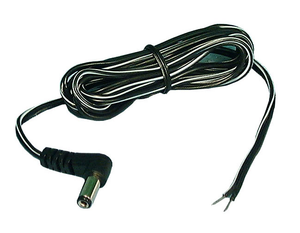 2.1mm X 5.5mm DC Power Cord R/A  6ft 18AWG, 48-218