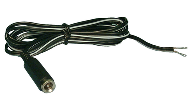 2.1mm DC JACK, Power Cord, 6Ft, 22 awg, 48-257