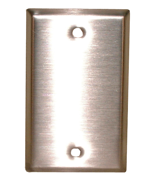 BLANK STAINLESS STEEL WALL PLATE, 70-7410