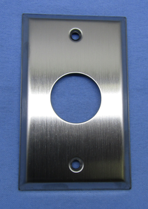 SS Wall Plate w/32mm Hole, 70-7430