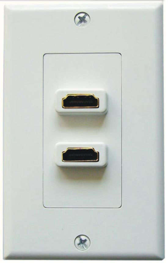 Designer Style Dual HDMI Wall Plate, 75-1059