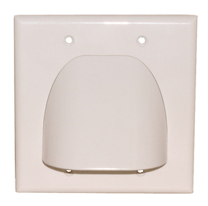2 PC BULK WALL PLATE, DUAL, WHITE BULK, 75-1121B