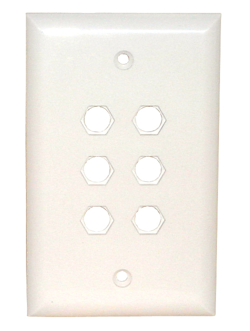 Std. Wall Plate-6 Hole Quick Fit, 75-4116