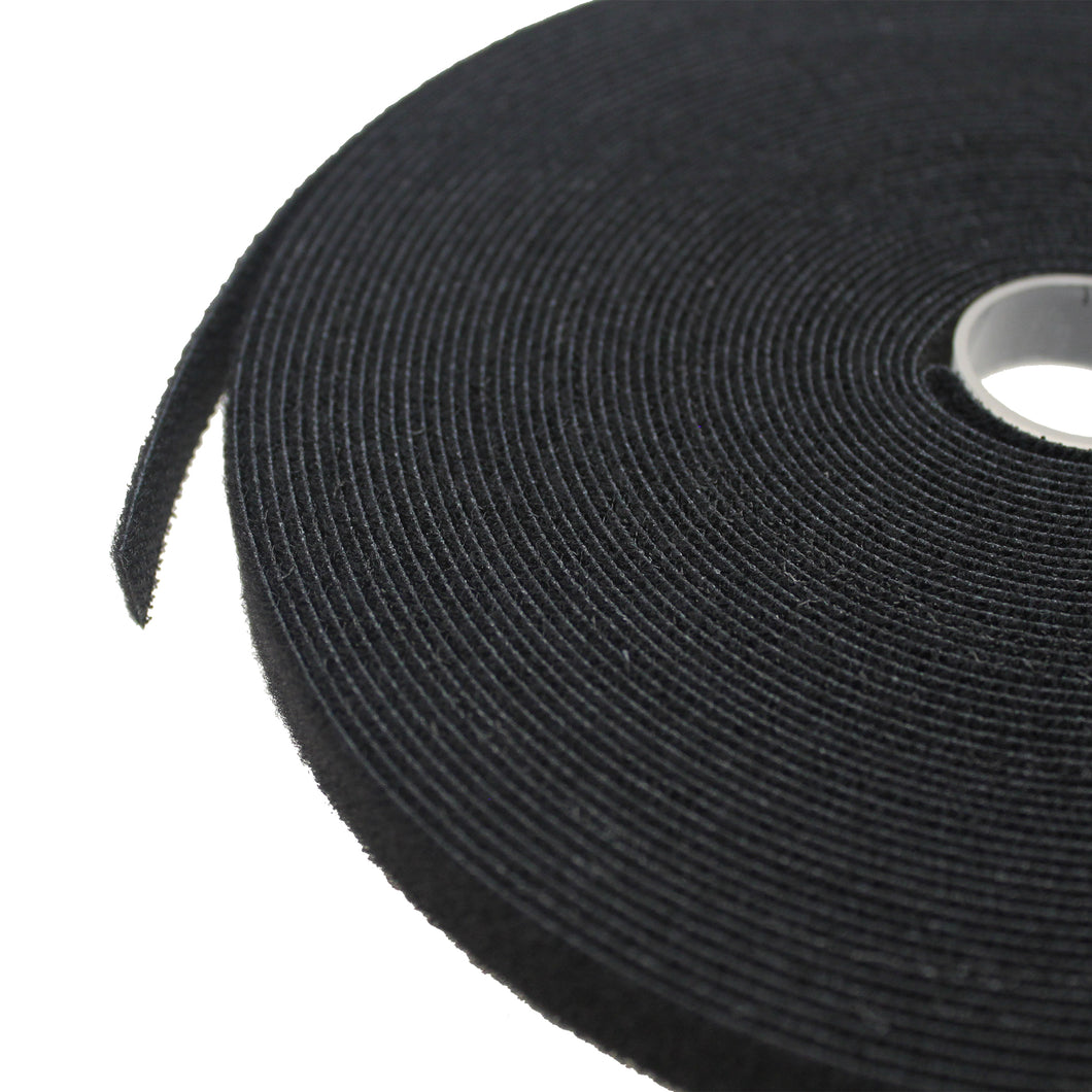 Bulk roll of Black - 1/2 inch wide  Velcro Cable Tie