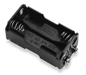 Battery Holder 4 X AA Cells  With Standard Snap, BH343