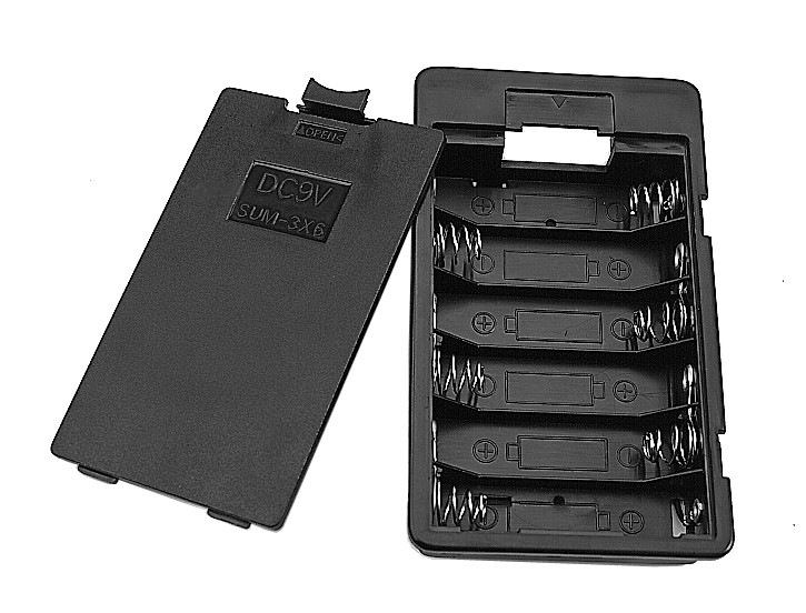 Battery Holder 6 X  AA Cells With Cover, BH3611