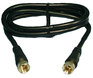 "RG59 Cable ""F"" / ""F"" Gold Conn.12' Blk , CBFG10"