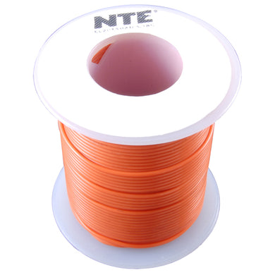 25' Hook-Up Wire, 16 Awg, Stranded, Orange, WH616-03-25