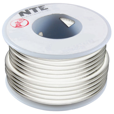 25' Hook-Up Wire, 14 Awg, Stranded, White, WH614-09-25