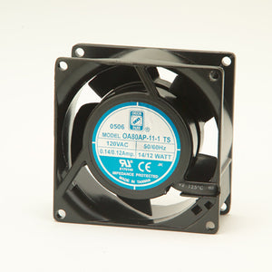 115VAC FAN 80 X 38MM 23 CFM, OA80AP-11-2-TB