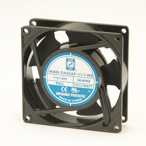 115VAC 92MM X 25 MM FAN W/ TERMINALS 27CFM, OA92AP-11-2-TB