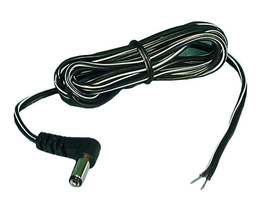 2.5mm X 5.5mm DC Power Cord R/A 6ft 24AWG, TC250