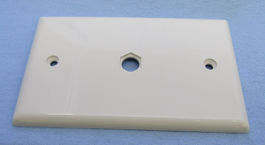 Single Video Wall Plate No Conn. White, TV42V