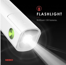 Load image into Gallery viewer, Rechargeable Power Bank and 150 Lumen Flashlight with Personal Fan