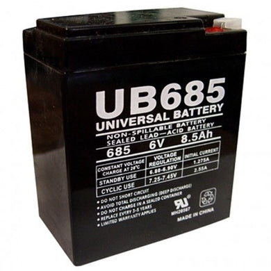 6V 8.5A LEAD ACID BATTERY, UB685
