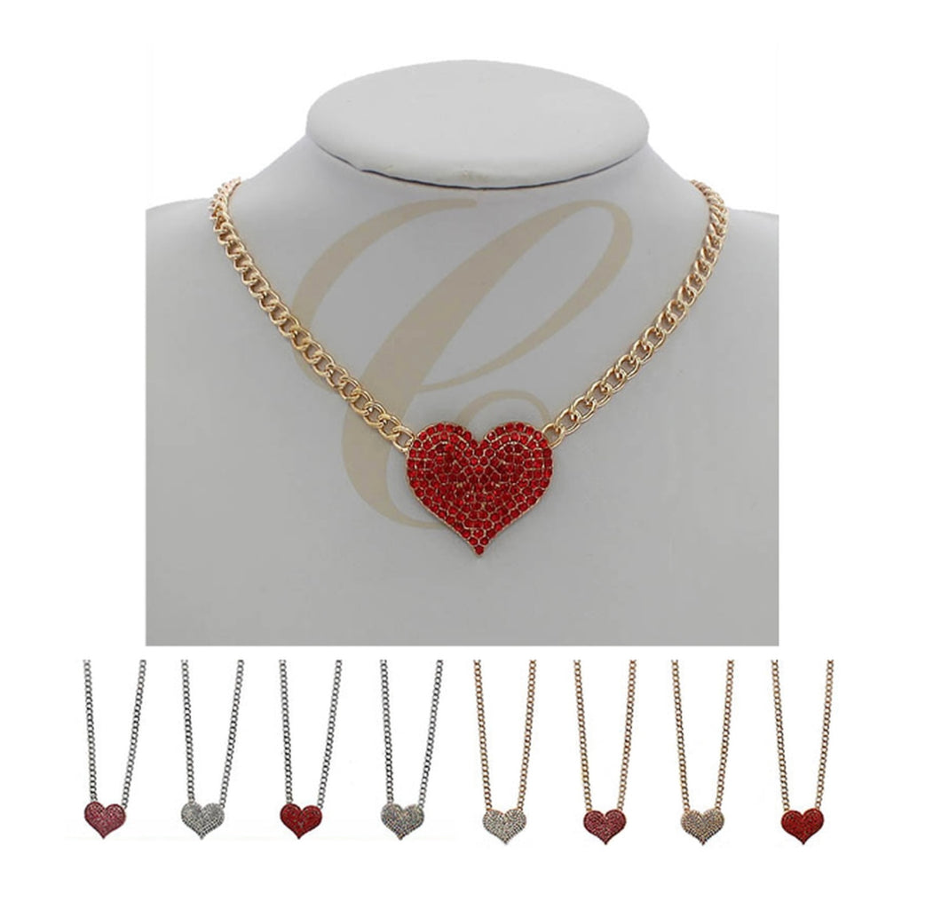 Heart Rhinestone Necklace
