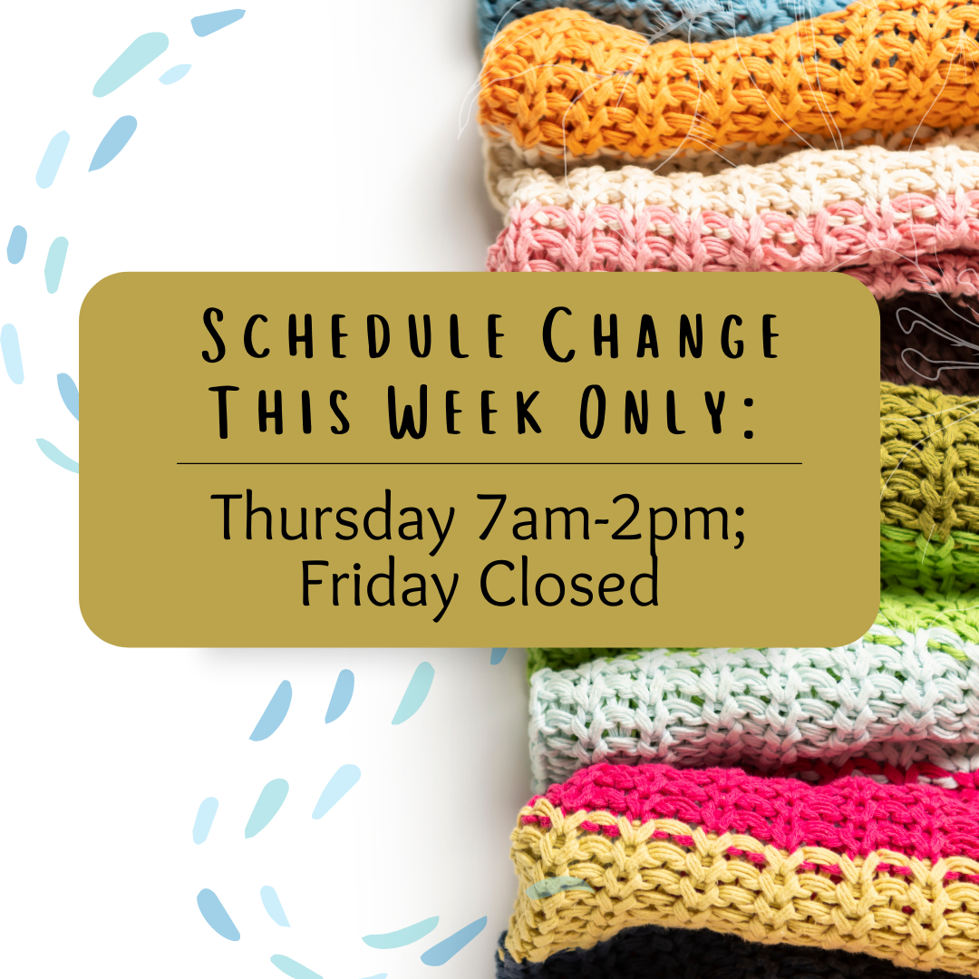 Schedule change for this week & Berroco Cardi Party!