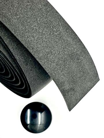 Jefe Velo Ultra Cushion Handlebar Tape - Black - At 4mm, One Of The Thickest On the Market!