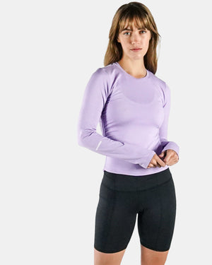 Load image into Gallery viewer, Base Side Scrunch Long Sleeve - Lavender