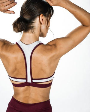 Load image into Gallery viewer, Bolt Bra - Maroon