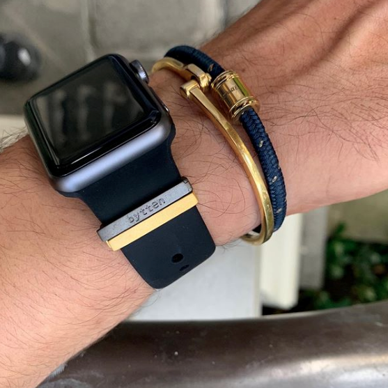 Pictured here: Bytten Clasps in black rhodium and satin gold