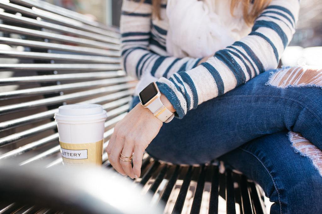 Bytten Gold Luxe Glam Stack for Apple Watch