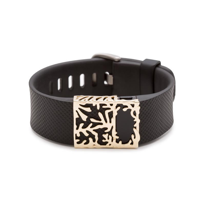 Fitbit Charge with Bytten Matisse slide - 10K solid gold