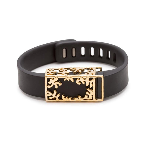 Fitbit Flex with Bytten slide - 18k gold Matisse slide sample
