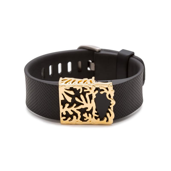 Fitbit Charge with Bytten Matisse slide - 18K gold
