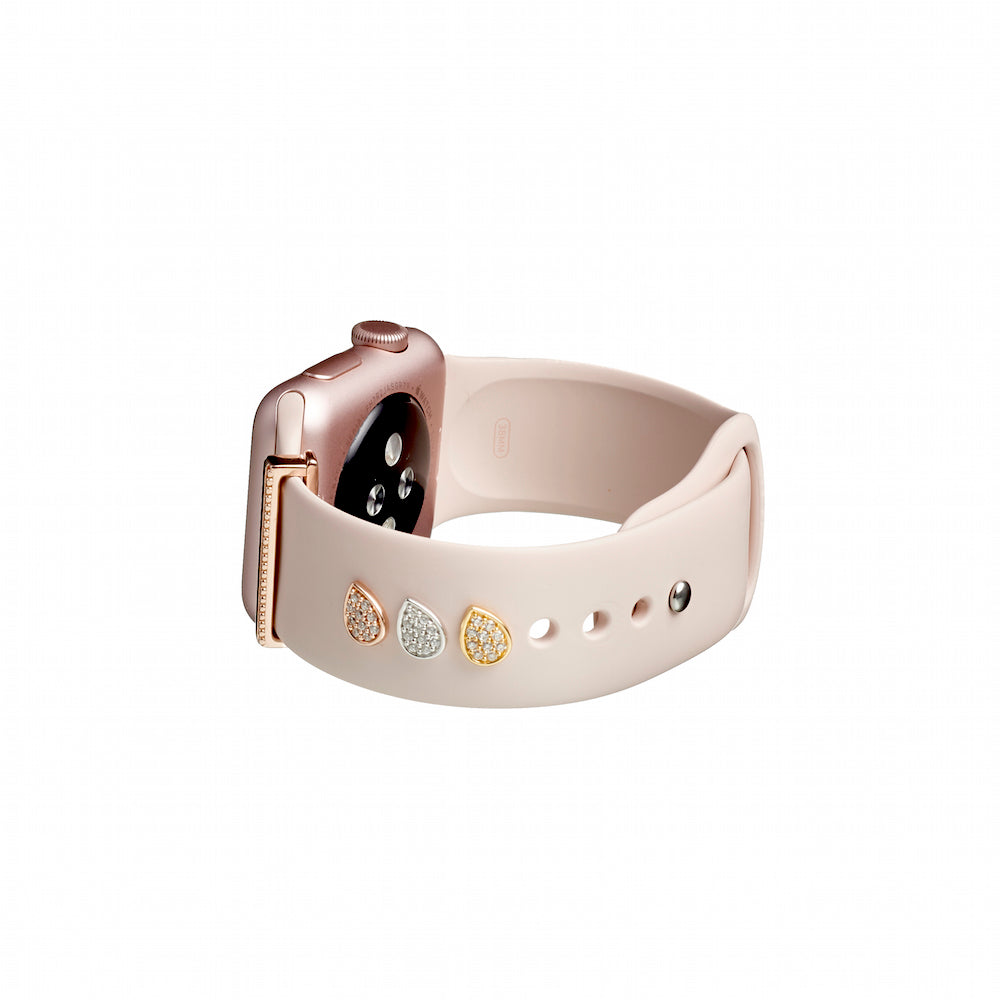 Bytten teardrop Studs for Apple Watch on pink sand Sport band