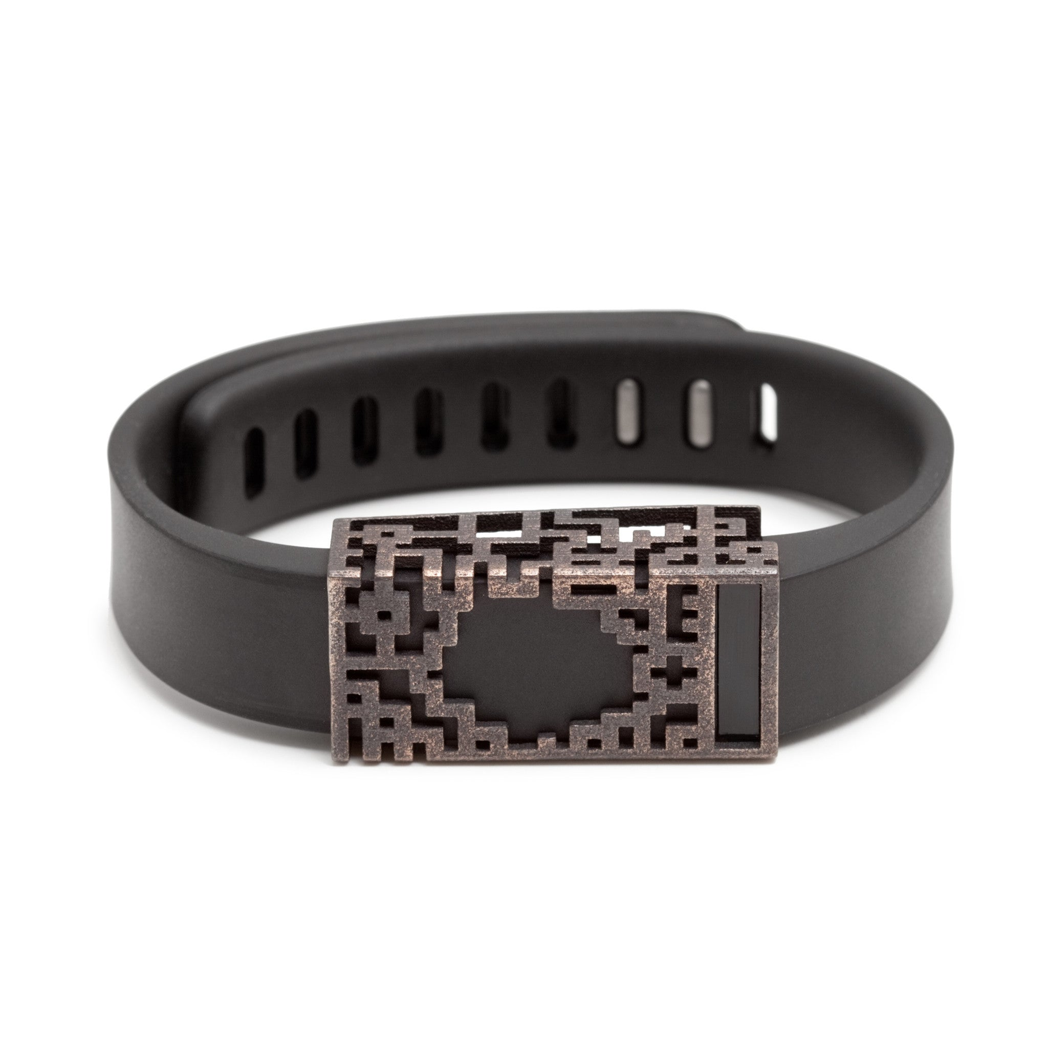 Fitbit Flex with Bytten Lucas slide - antique steel