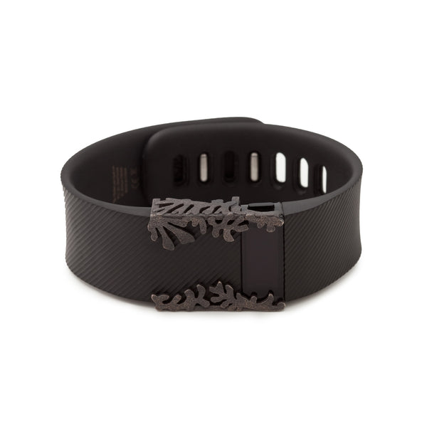 Fitbit Charge with Bytten Matisse Cuff in antique steel