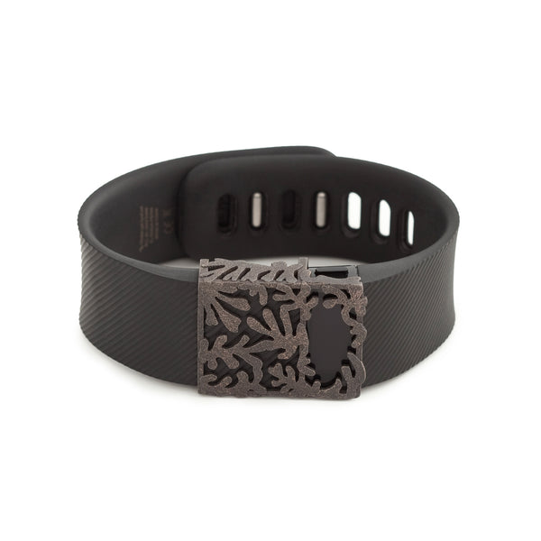 Fitbit Charge with Bytten slide - antique steel Matisse slide sample