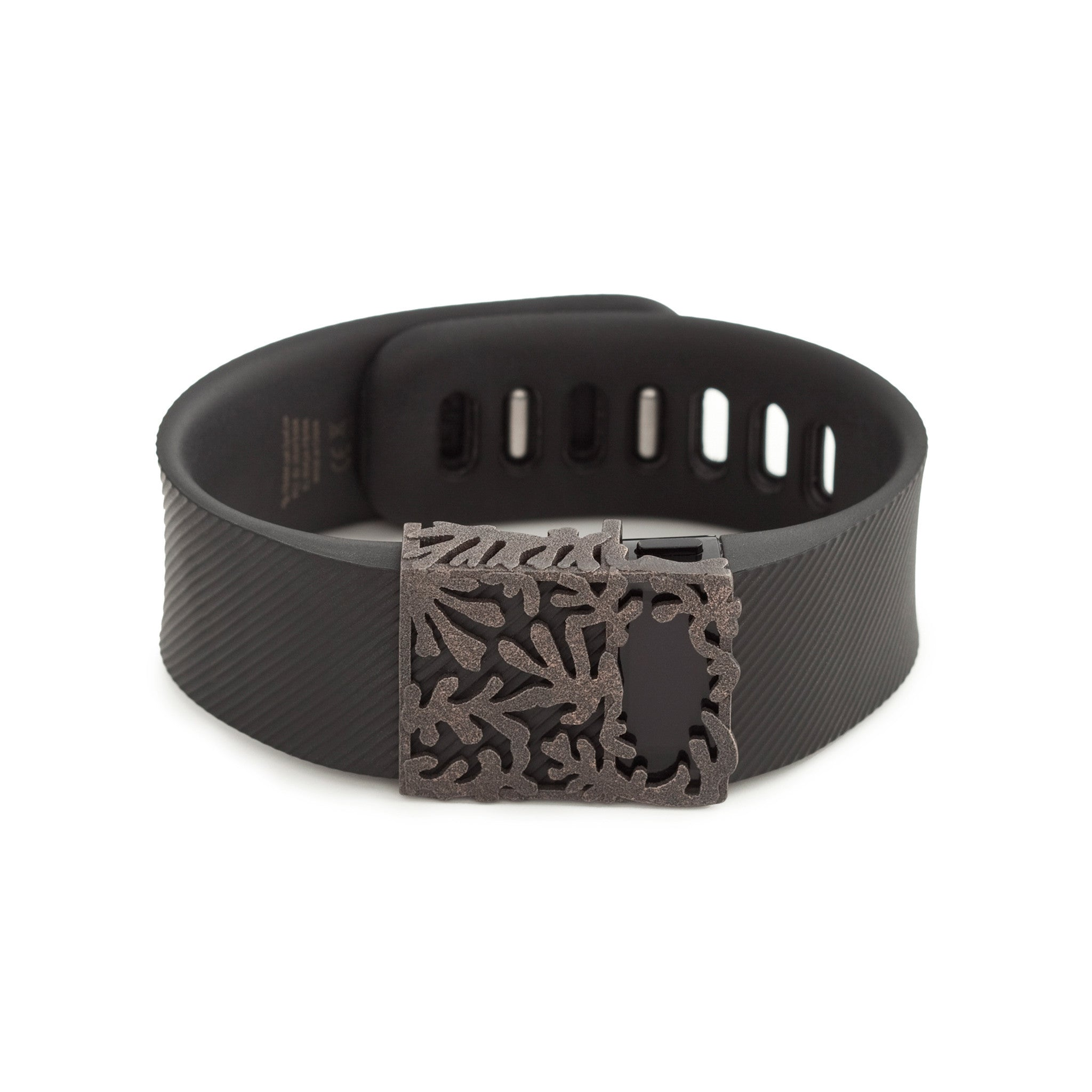 Fitbit Charge with Bytten Matisse slide - antique steel