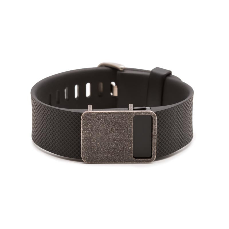 Fitbit Charge with Bytten Rasa slide - antique steel